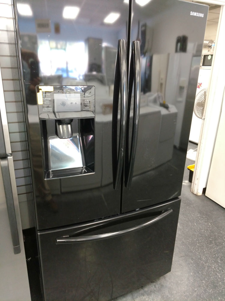 Black French Door Refrigerator Pg Used Appliances