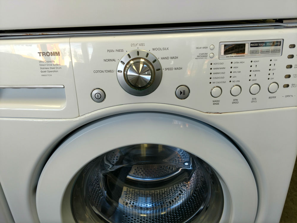 Used white stackable washer