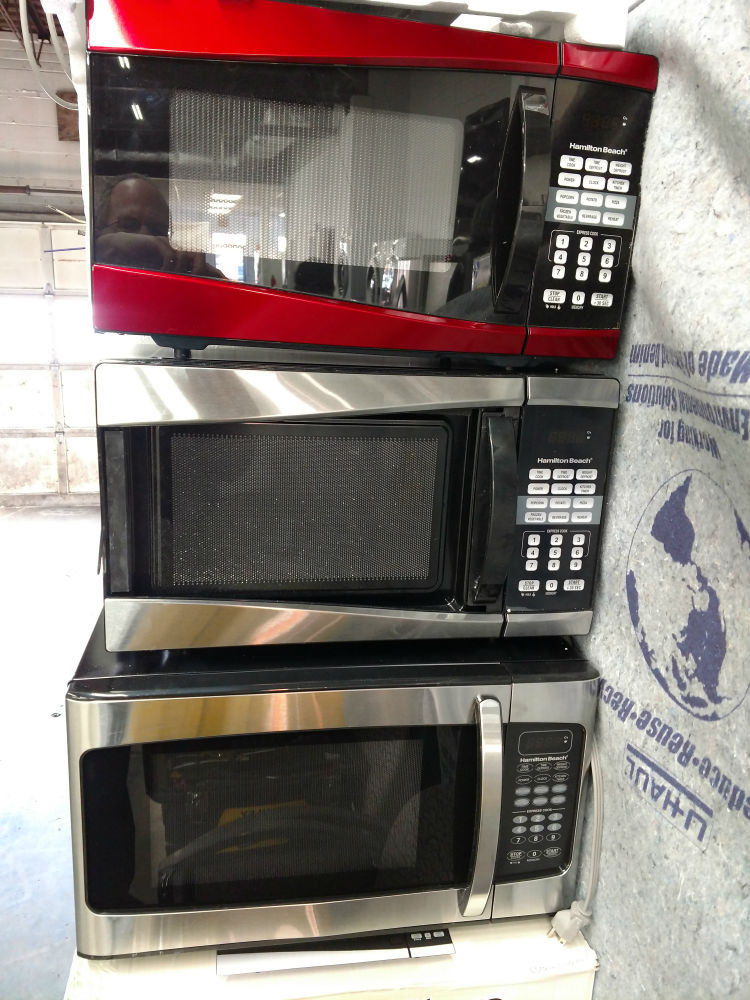 Brand new microwaves