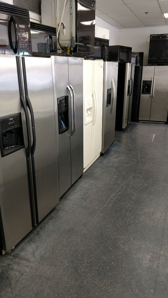 Used side-by-side fridges